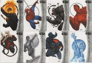 A selection of the 50 cards done for the Masterpiece Collection
